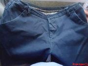 брюки стрейч синие для мальчика